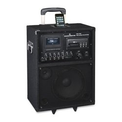 "Oklahoma Sound PRA-7000 100-Watt Wireless PA System, 10"" Width x 22"" Height x 13"" Depth, Black"