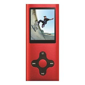 Fit Clip 180 PRO 4GB MP3 + Video Player Red