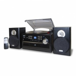 Jensen 3-Speed Stereo Turntable with CD System, Cassette and AM/FM Stereo Radio Jensen 3-Speed Ster