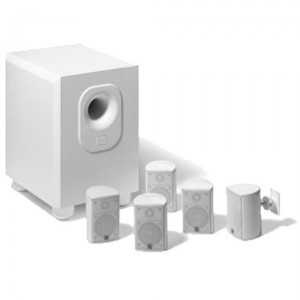 Leviton AEH50-WH Architectural Edition Powered By JBL 5-Channel Surround Sound Home Cinema Speaker System, White
