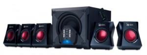 Genius GX-Gaming 5.1 Surround Sound 80 Watts Gaming Speaker System with Remote Control (G5.1 3500)