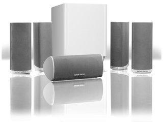 Harman Kardon HKTS 16WQ 5.1 Channel Home Theater Surround Sound Speakers (White)