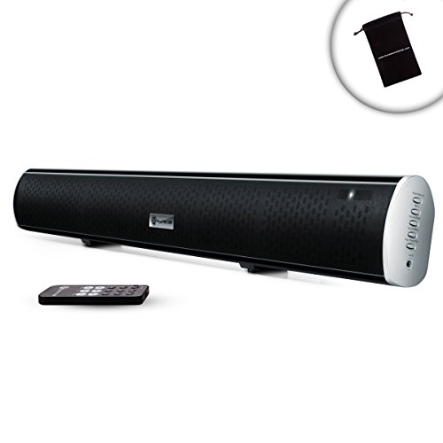 GOgroove BlueSYNC SBR Bluetooth HD Sound Bar Speaker with Ultraslim Design, Optical and Analog Input and Wall Mounting Kit - Works with Apple iPhone 6 , Samsung Galaxy S6 , HTC One M9 and More Smartphones