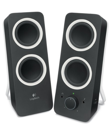 Logitech Multimedia Speakers Z200 with Stereo Sound for Multiple Devices, Black
