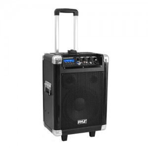Pyle PCMX270B Boom Rock 400 Watt Bluetooth 10-Inch Portable PA Speaker System, Built-in Rechargeable Battery, Headset and Mic