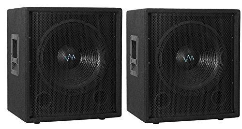 """2) NEW VM Audio VAS15SUB 15"""" 1500 Watt Passive Sub DJ Speaker Subwoofer (Pair)"""