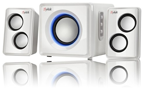Sykik Sound Wireless Bluetooth speaker Powerful Bass system w/ 3.5mm Aux Port Home Audio for Smartphones , Tablets , Desktop Computers , Laptops , TV & More!