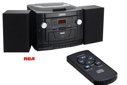 RCA RS22163CP - 3-CD Audio System w/ AM/FM Radio Cassette & Line-In Jack for MP3