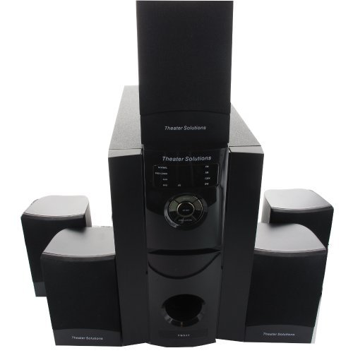 Theater Solutions TS511 5.1 Multimedia Powered Home Theater Surround Sound Speaker System