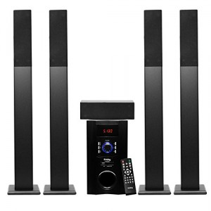 Frisby FS-6500BT Tower 5.1 Surround Sound Home Theater Speakers System with Bluetooth USB/SD/AUX and Remote