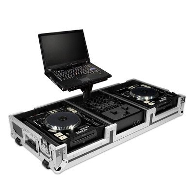 Road Ready RRDJCD12WL Coffin with Laptop for 2 Pioneer CDJ1000