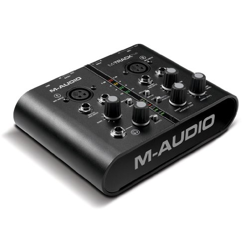 M-Audio M-Track Plus Two-Channel Portable USB Audio and MIDI Interface with Digital I/O, Ignite by AIR and Pro Tools