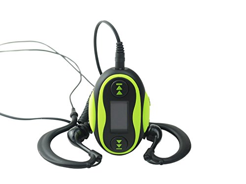 QQ-Tech 4GB Waterproof MP3 Player Swimming or other Sports - Green