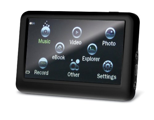 Sylvania 4 GB 3.6-Inch Touch Screen Video MP3/MP4 Player/Media Center with Expandable Memory Slot and Built-In Speaker