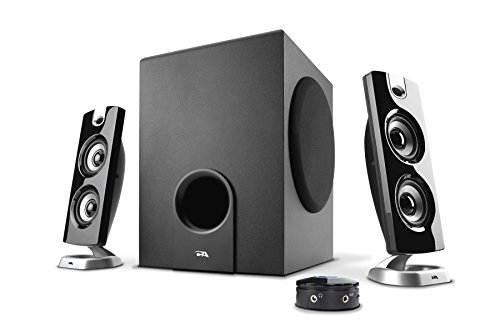 Cyber Acoustics 30 Watt Powered Speakers with Subwoofer for PC and Gaming Systems in Frustration Free Packaging, (CA-3602FFP)