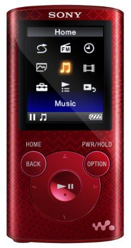 Sony NWZE383 4 GB Walkman MP3 Video Player (Red)
