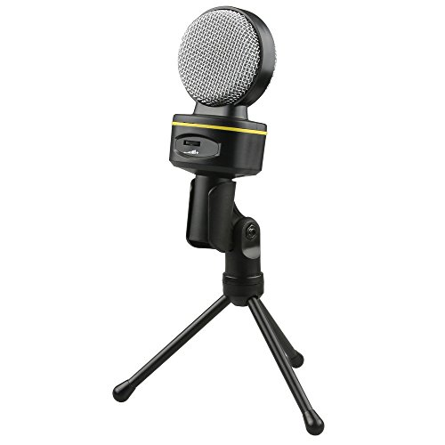 Fotga Condenser Sound Studio Recording Microphone Mic w/ Stand for PC Laptop Gaming Skype MSN