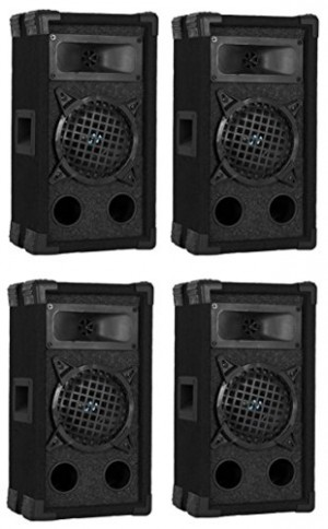 "4) VM Audio VAS35P 400 Watt 2 Way 5.25"" DJ Passive Loud PA Stage Speaker System"