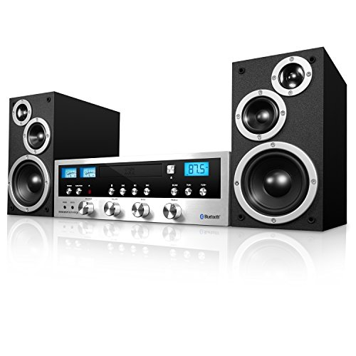 Innovative Technology ITCDS-5000 Classic Stereo System with CD Player, FM Radio, Aux-In, and Headphone Jack (Black)