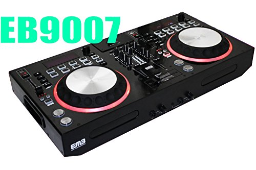 EMB Professional EB9007 DJ Mixer With Dual USB/SD/MP3/CD Player 2 Jog Wheels Scratching+Controlling - Built-in Bluetooth - Virtual DJ Compatible + Virtual DJ Disk - For Home Entertainment | DJ Performance | Club | Bar | Pub | Studio Recorder | Stage | Show