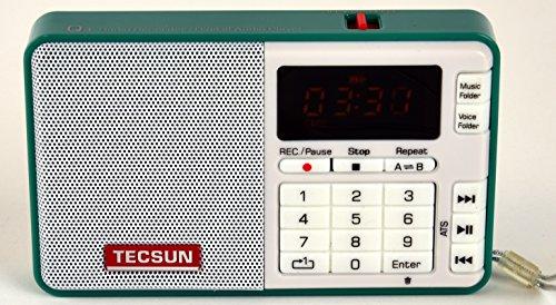 Tescun Q3 Mini Size MP3 Player, FM Radio and Voice/Radio Recorder (Green)