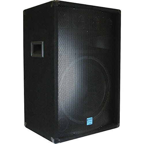 GEMINI GSM-1585 Dual 15-inch 700 Watt DJ Stage Loud-Speaker, with 3-Way Passive Crossovers
