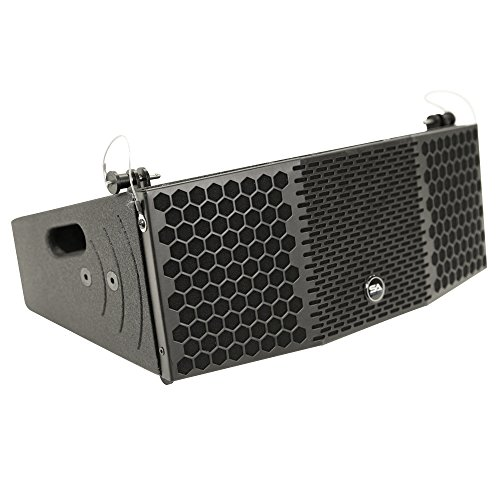 Seismic Audio CLA-2x5 Compact 2 x 5 Line Array Speaker with Titanium Compression Driver PA/DJ Band Live Sound