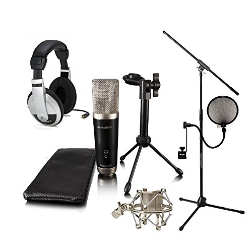 M-Audio Vocal Studio Pack Samson HP10 JamStand Filter Shock mount with Ignite Software