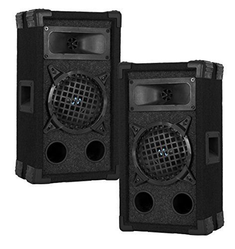 "2) VM Audio VAS35P 400 Watt 2 Way 5.25"" DJ Passive Loud PA Stage Speaker System"