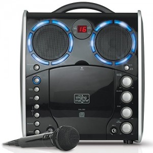 Singing Machine SML-383 Portable CDG Player Karaoke Machine, Black