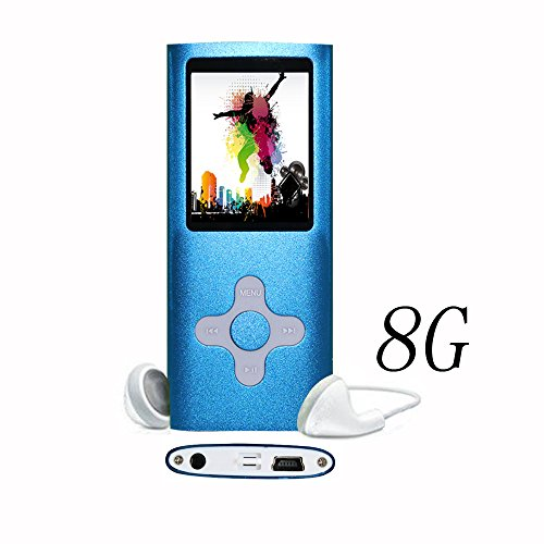 Goldenseller Blue Slim 8gb Mp3/mp4 (Zf-08) Music Video Media Player with Videos | Music | Pictures | Ebooks | Voice Recording + More