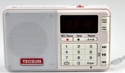 Tescun Q3 Mini Size MP3 Player, FM Radio and Voice/Radio Recorder (White)