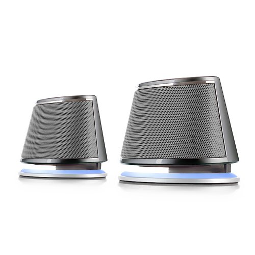 Satechi® Dual Sonic Speaker 2.0 Channel Computer Speakers (Silver) for Apple Macbook Pro , Air / Asus / Acer / Samsung / Dell/ Toshiba / HP / Sony Vaio and More