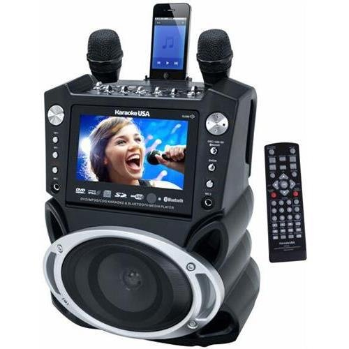 "JS Karaoke Jskaraoke Gf830 DVD/CD+G/MP3+G Bluetooth Karaoke System with 7"" TFT Color Screen and Record Function"