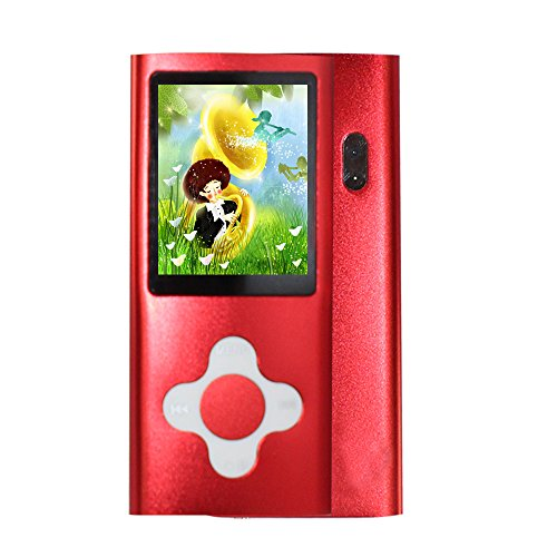 Rshop New 8GB Red Slim MP4/MP3 Player Music 1.7'' Lcd Screen Mp4 Music/Audio/Media Player with Earphone and Usb Cable /Support Camera Video Movie Ebook Games Photo View