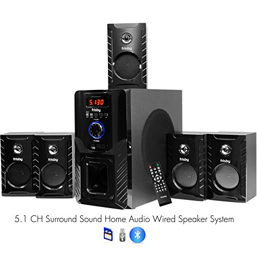 Frisby FS-5000BT 5.1 Surround Sound Home Theater Speakers System with Bluetooth USB/SD/AUX and Remote