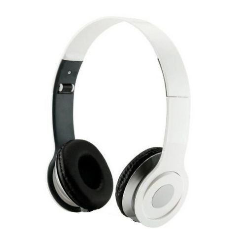 HeadGear 3.5mm Foldable Headphone Headset for Dj Headphone Mp3 M Pc Tablet Music Video and All Other Music Playersp (White)