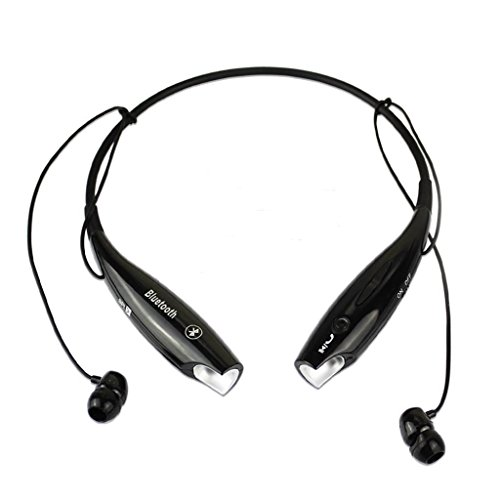 Black Wireless Bluetooth V4.0+EDR HV-800 Neckband Sport Stereo Universal Headset Headphone for Smartphone