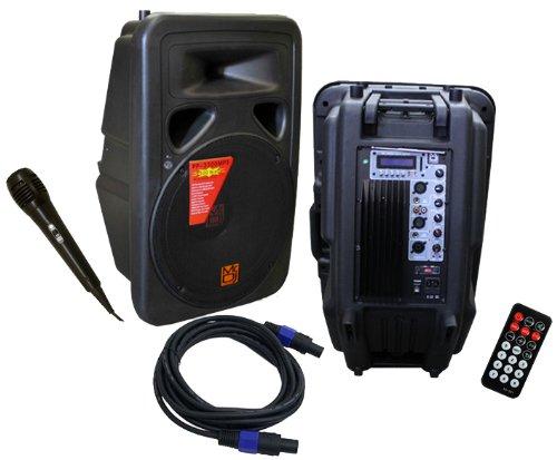 Mr. Dj PP-3530BTPK 15-Inch Full Range Speaker System Package with Bluetooth/MP3/USB/SD Card Slot