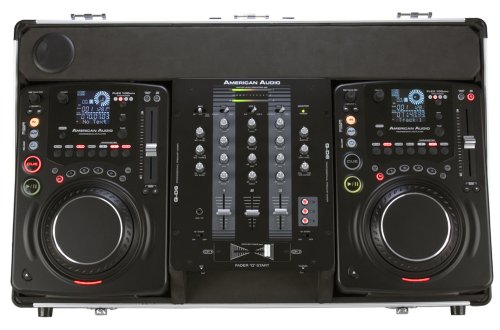 American Dj Supply Flex 100Mp3 Sys Dj Package Includes 2 Flex 100 Scratching Cd Players And A Qd6 Mixer With Case