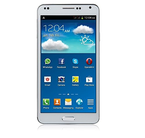 Lightahead® Unlocked LA-N7702 5.5 inch HD Super Capacitive screen Dual SIM Card Android 4.1 MTK6575 GPS WiFi 3G mobile smart Phone 3G/4G on AT&T, 2G on T-mobile works with all GSM networks free case (WHITE)