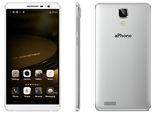 aPhone® supper slim (8.1mm) light (140g) large 5.5 inch phablet sensitive touch screen fast speed 512MB RAM 4GB ROM MTK6572 1.0GHz CPU unlocked dual SIM android smart phone (white)
