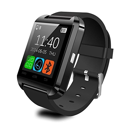 CNPGD Bluetooth Smart Wrist Wrap Watch Phone for IOS and Android, Black