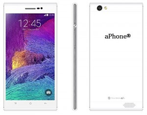 aPhone®V unlocked smartphones,5.5 inch,7.6mm thickness slim,light,dual sim(one standard, one micro)android smart cell phone(cellphone)GPS WiFi Bluetooth AT&T/T-Mobile/Straight Talk/NET10/H2O&other GSM/3G WCDMA(White)