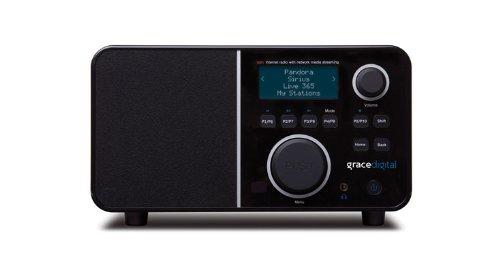 Grace Digital GDI-IR2600 Wi-Fi Internet Radio featuring Pandora, NPR On-Demand, SiriusXM Internet Radio and iHeartRadio - Black