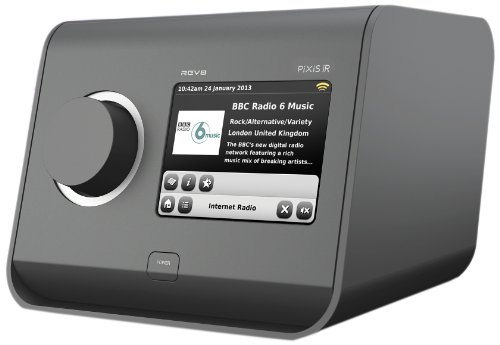 Revo Pixis IR Colour Touchscreen Internet Radio with Alarm Clock - Anthracite