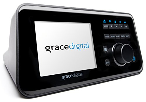 Grace Digital GDI-IRCA700 Wireless Internet Radio Adapter with 3.5-Inch Color Display Featuring Pandora, NPR, and SiriusXM (Black)