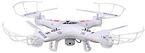 ZuZo 2.4GHz 4 CH 6 Axis Gyro RC Quadcopter Drone with Camera & LED Lights, 38 x 38 x 7cm
