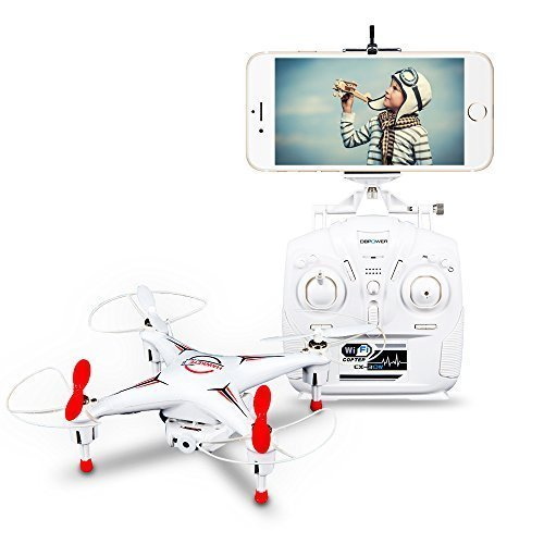 DBPOWER Hawkeye-II FPV Wifi G-sensor Control Quadcopter 4CH 6 Axis RC Drone with 0.3MP Camera for IOS Android