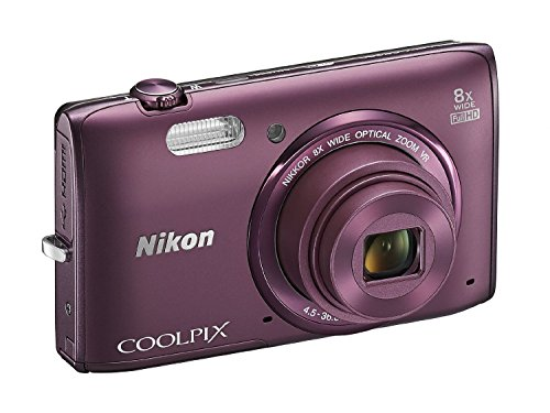 Nikon COOLPIX S5300 16 MP Wi-Fi CMOS Digital Camera with 8x Zoom NIKKOR Lens and 1080p HD Video (Plum)(Certified Refurbished)